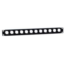 "ADAM HALL  - Tôle rack 19"" 1U pour 12 embases avec attache-câbles (Neuf)"