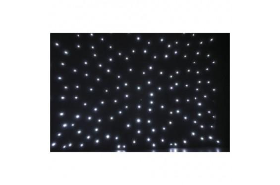 SHOWTEC - Rideau lumineux Stardrape - 4x6m noir - Led blanche - inclus contrôleur et sac de transport (Neuf)