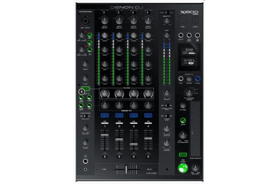 DENON - Table de mixage X1800 PRIME - Double port USB - 4 voies avec effets et gestion DVS (Neuf)