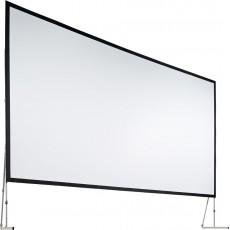 Set complet avec front, retro, cadre et pieds - Ecran de projection - 5,08m x 2,94m - format 16/9 - Full HD (Occasion)