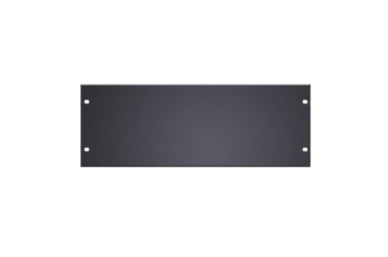 "ADAM HALL - Tôle aveugle rack 19"" 4U vierge noir acier (Neuf)"