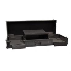 BLACK CASES - Flight case pour 2 CDJ 2000 & 1 DJM 2000  avec roues et support ordinateur - Couleur Noire (Neuf)