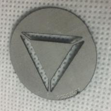 MARTIN - Gobo Triangle D27.9/d23 - Aluminium pour lyre MARTIN (Neuf)