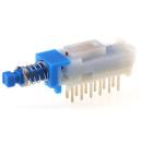 Commutateur à bouton-poussoir, Verrouillable, 4P, 100 mA, 30 V c.c. Montage sur Circuit imprimé (neuf)