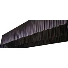 Frise / Jupe coton noir classé M-1 avec Velcro 6x0.60m de haut (Neuf)