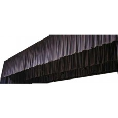 Frise / Jupe coton noir classé M-1 avec velcro 6x1m de haut (Neuf)