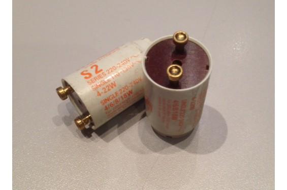 MAZDA - Starter S2 pour tube fluorescent 60cm - 4W à 22W - Séries 220-240V (Neuf)
