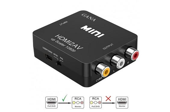 GANA - Convertisseur HDMI vers RCA et HDMI vers AV (Neuf)