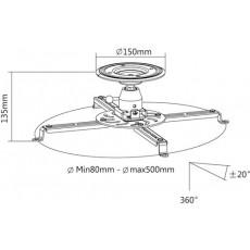 I-visions - IVB16F-WH - Support d'accroche mural pour vidéo-projecteur (Neuf) (copie)