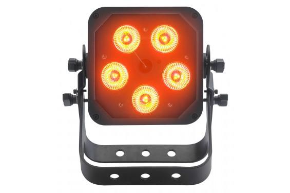 CONTEST - IPair5x12Six - Projecteur à 5 LEDs RGBWA + UV 12W sur batterie IP65 (Neuf)