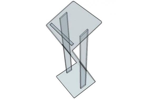 MoveX - Pupitre de conférence en Plexiglass (Neuf)