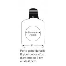 ETC - Porte Gobo en verre - Taille B (Neuf)