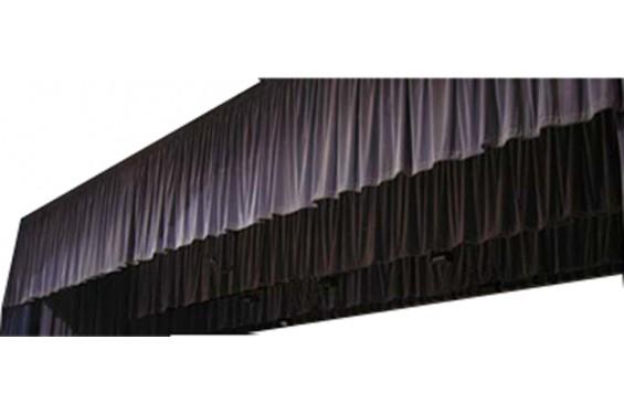 Frise / Jupe coton noir classé M-1 avec velcro stripes 6x0,40m de haut (Neuf)